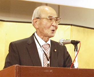 政策研究会の代表を務める久保田団長
