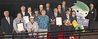 受賞者、審査員による記念撮影=2月27日、MOVIX橋本