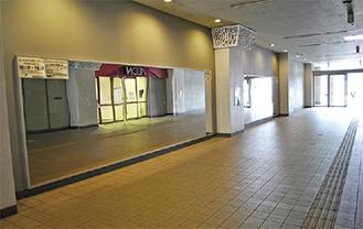 設置されたダンススペース