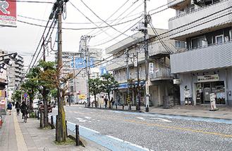 商業地で最も高い上昇率となった橋本2丁目付近