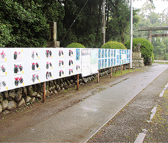 津久井中央小学校児童によるホタルの絵も展示