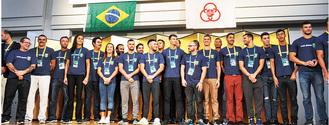 来相したブラジル選手団