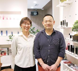 「反対に夏はずっと涼しいと聞くので、今から楽しみです」と話す竹林さん(右)と妻のみゆきさん