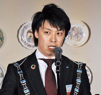 冒頭であいさつに立った宇田川理事長