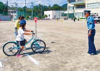 「安全な自転車運転を」