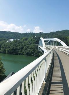 """藤野商工会長賞に輝いた日連大橋を写した「好きな橋」。""""とうま""""くん(藤野小)撮影"""