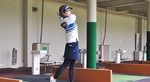 町田の小山田ゴルフガーデンで練習する