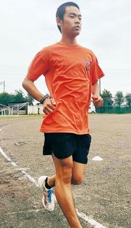 男子5000m競歩で優勝した中川さん。現在は全国へ向け練習を重ねる