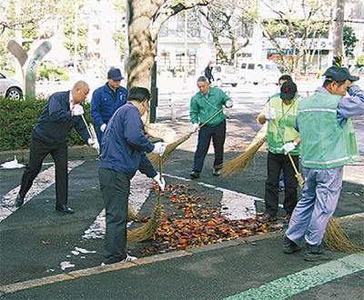 道路清掃で社会還元