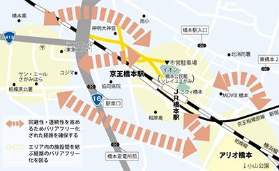 橋本駅周辺をバリアフリーに