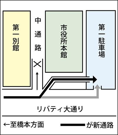 4月6日(水)から進入方法が変更に