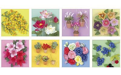 植物を精確に描いた立体アート展