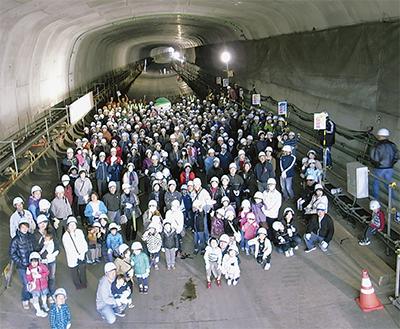 川尻トンネルを見学