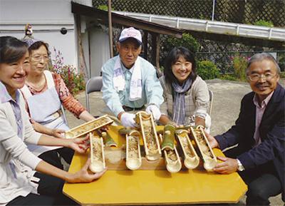 懐かしの竹筒料理が復活