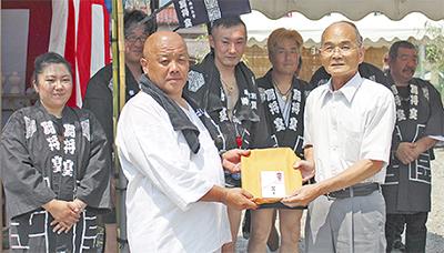 闘将皇(とうしょうすめらぎ)が社協へ寄付