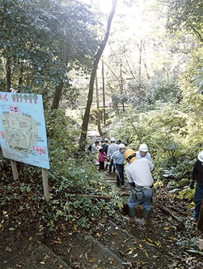 地域と共に観察林を整備