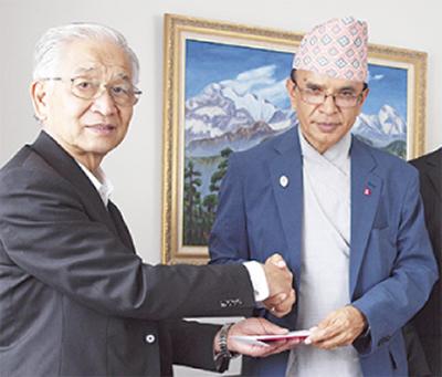 ネパールへ義援金
