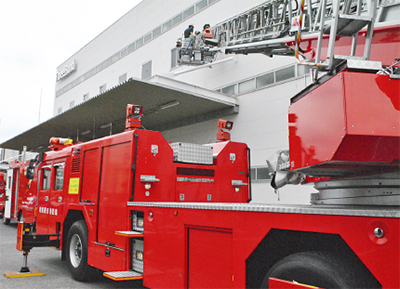 自衛消防隊と連携強化へ