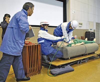 救急対応をシミュレーション