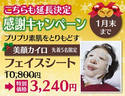 カイロが7割引の3千円(税別)
