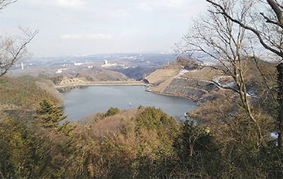 城山ダムを見学