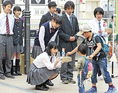橋本駅で熊本支援募金