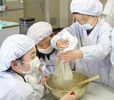 「愛情注入」手作り豆腐