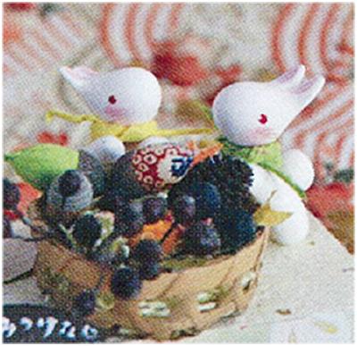 幸せのウサギ人形を