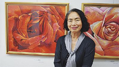 左時枝さんの油絵展