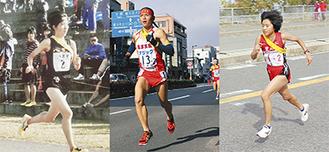 右から関根花観選手(予選大会の様子=提供写真)、中山将選手(昨年の全国大会)、谷萩史歩選手(大会の様子=提供写真)。