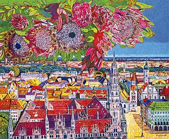 展示作品より「ミュンヘン回想(花市場)」