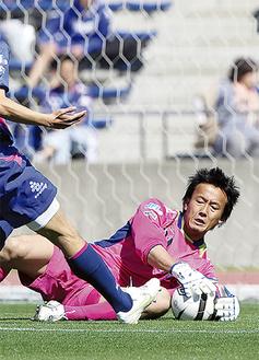 スーパーセーブでゴールを守った相澤貴志選手(写真提供=ZELVIA)