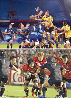 7月31日(金)に対戦が決まった南アフリカの強豪ブルー・ブルズ(写真上)とキヤノンイーグルス(関東ラグビーフットボール協会提供)