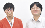 稲川君(左)と指導教員の米盛弘信先生