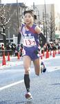 区間2位の好タイムで走る関根花観選手