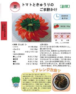 旬の野菜を使ったメニュー20種類を掲載