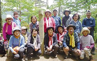 中央線・能岳で撮影(同クラブ提供)