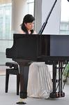 ピアノカフェショパンで演奏する山口友由実さん