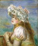 ルノワール《レースの帽子の少女》ポーラ美術館蔵