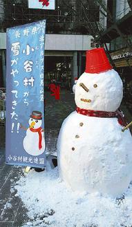 大きい雪だるまが待っている