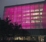 ピンクリボン運動啓発などには色を合わせて点灯