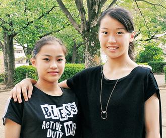 ときには喧嘩もするけど、お互いをリスペクトする仲良し姉妹。右が姉の瞳さん、左が妹の千愛さん
