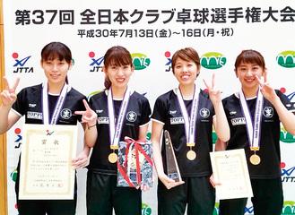 左から滝浦選手、須藤選手、酒井選手、大家選手
