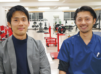 小山田中で先輩後輩の関係でもある星倉さん(右)と畑中さん