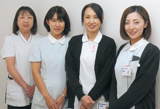 笑顔で応対する健診センターの皆さん