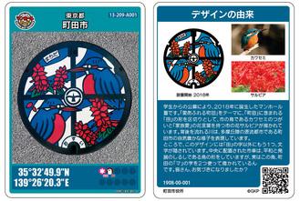 町田市マンホールカード(表裏)