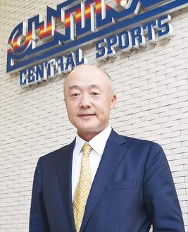 自らもマラソンを走り汗を流す木目田代表