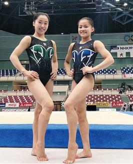 東京五輪代表に内定した畠田瞳さん(左)と妹の千愛さん(畠田さん提供)