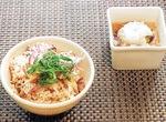 田嶋さんのレシピを元に教育委員会で調理したメニュー
