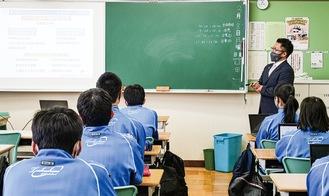 3月にはつくし野中学校で町田JCのSDGsへの取組みについて講演を行った